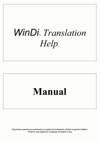 User manual hosted in the library of Language Dynamics Corp